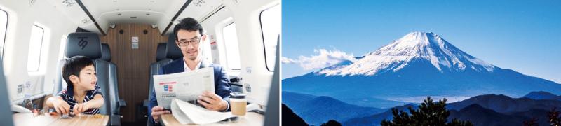 SKYTREKのイメージと富士山